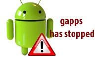 Процесс google process gapps остановлен: что делать и как убрать