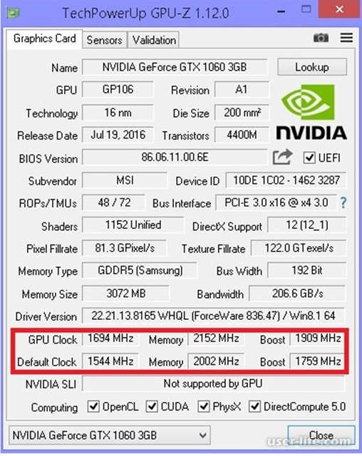 Разгон видеокарты Nvidia Geforce (Нвидиа)