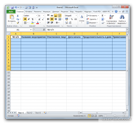 Как построить сетевой график в Excel (Эксель)