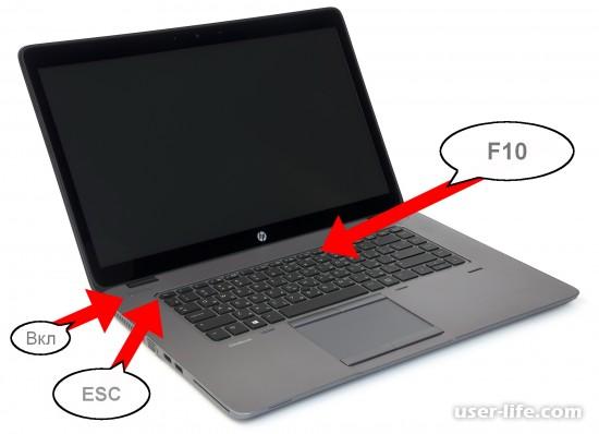 Как зайти в Биос на ноутбуке Hp Pavilion (открыть включить вход загрузка настройки)