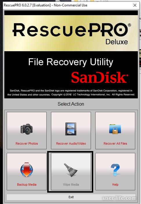Как восстановить флешку SanDisk