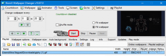 Как установить GIF на рабочем столе
