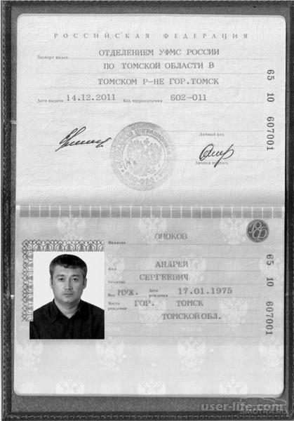 Скан паспорта займ