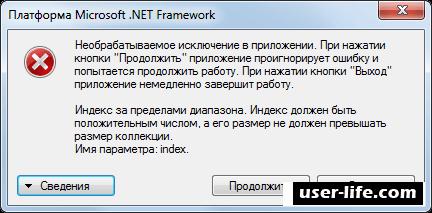 Необрабатываемое исключение в приложении Net Framework