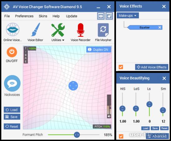 AV Voice Changer Diamond как пользоваться скачать