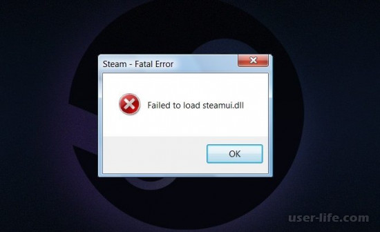 Ошибка Failed to load steamui dll как исправить что делать Стим Windows Xp