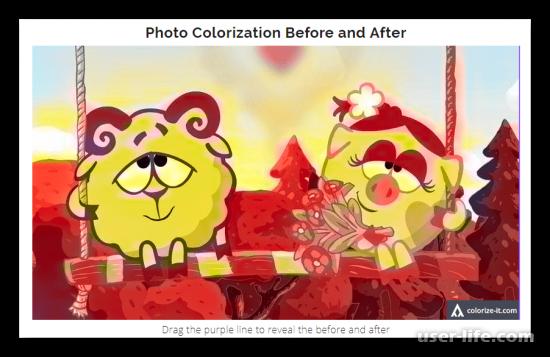 Как сделать черно-белое фото цветным раскрасить онлайн бесплатно