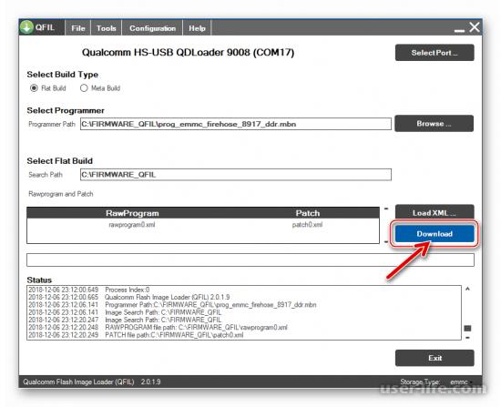 Cкачать QFIL для прошивки программу с инструкцией