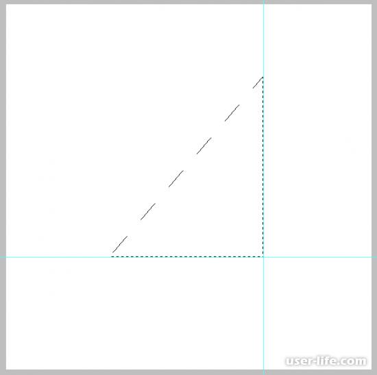 Как нарисовать треугольник в Фотошопе