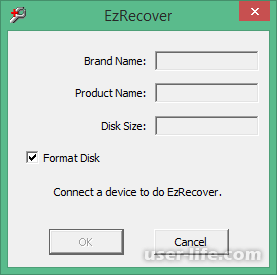 Восстановление форматирование исправление ошибок сбоев флешки программой EzRecover