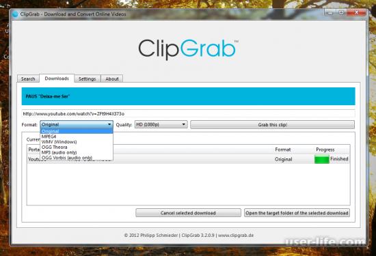 ClipGrab скачать бесплатно на русском с официального сайта