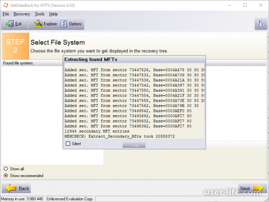 GetDataBack for NTFS FAT как пользоваться скачать бесплатно на русском