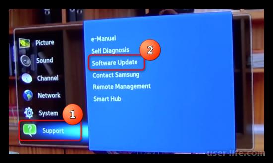 Как обновить прошивку телевизора Самсунг через флешку