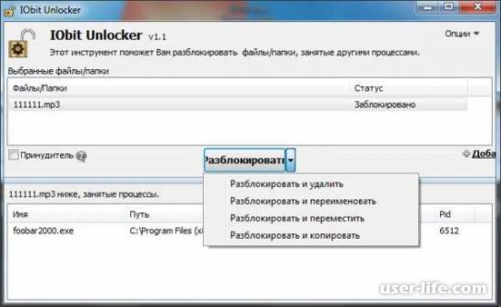 IObit Unlocker как пользоваться скачать бесплатно на русском языке