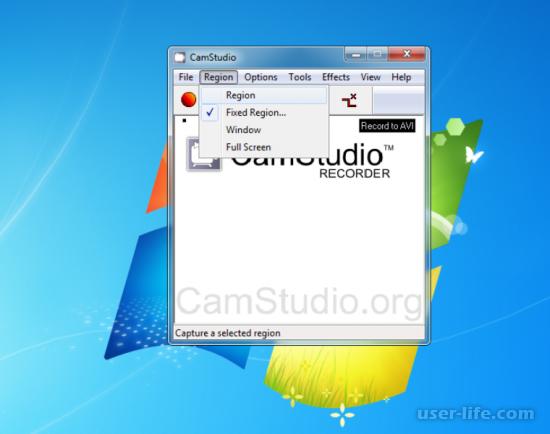 CamStudio как пользоваться настройка скачать на русском бесплатно