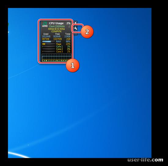 Гаджеты температуры процессора для Windows 7 скачать