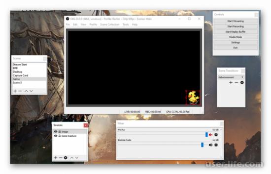 Программы для записи видео без потери FPS