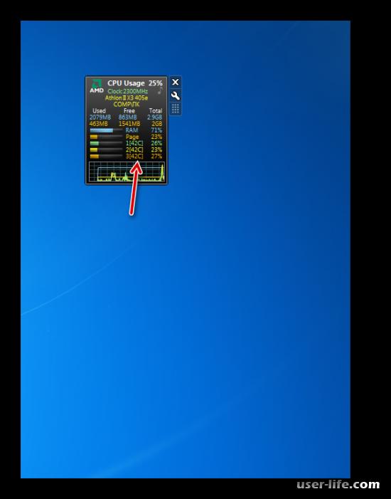 Как узнать температуру процессора в Windows 7
