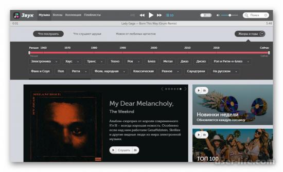 Сайты для прослушивания музыки онлайн бесплатно