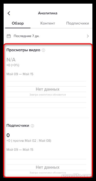 Просмотр аналитики в TikTok