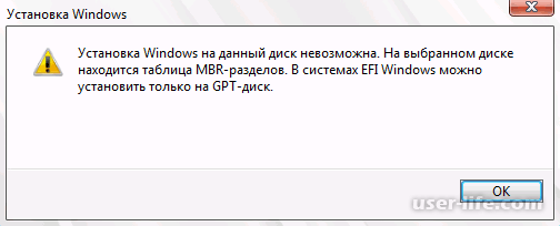 MBR в GPT при установке Windows 10