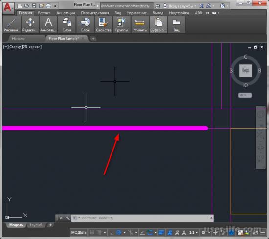 Как изменить толщину линии в Автокаде