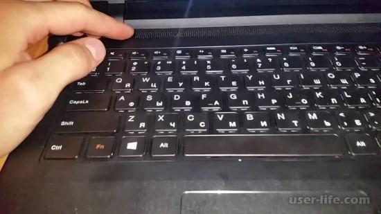 Включение клавиатуры на ноутбуке HP